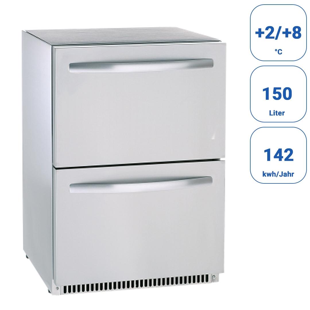 Edelstahl Kühlschrank 2 Schubladen Getränke Kühlschränke