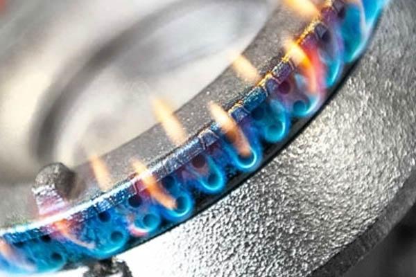 Hockerkocher mit Gasbetrieb