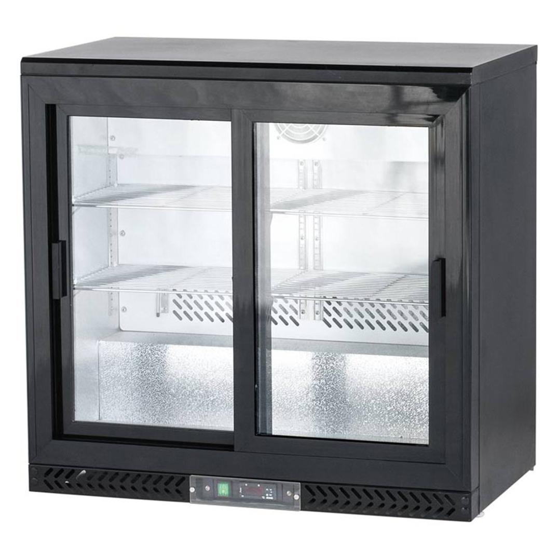 Bar Display Cooler, 202 Liter, zwei Schiebetüren | Rückbuffet ...