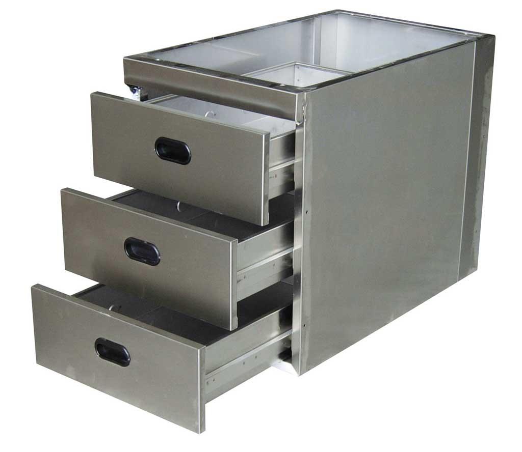 schubladenblock 3 x gn 1 1 zum unterbau unter arbeitstische 700er tiefe arbeitstisch 700 mm. Black Bedroom Furniture Sets. Home Design Ideas