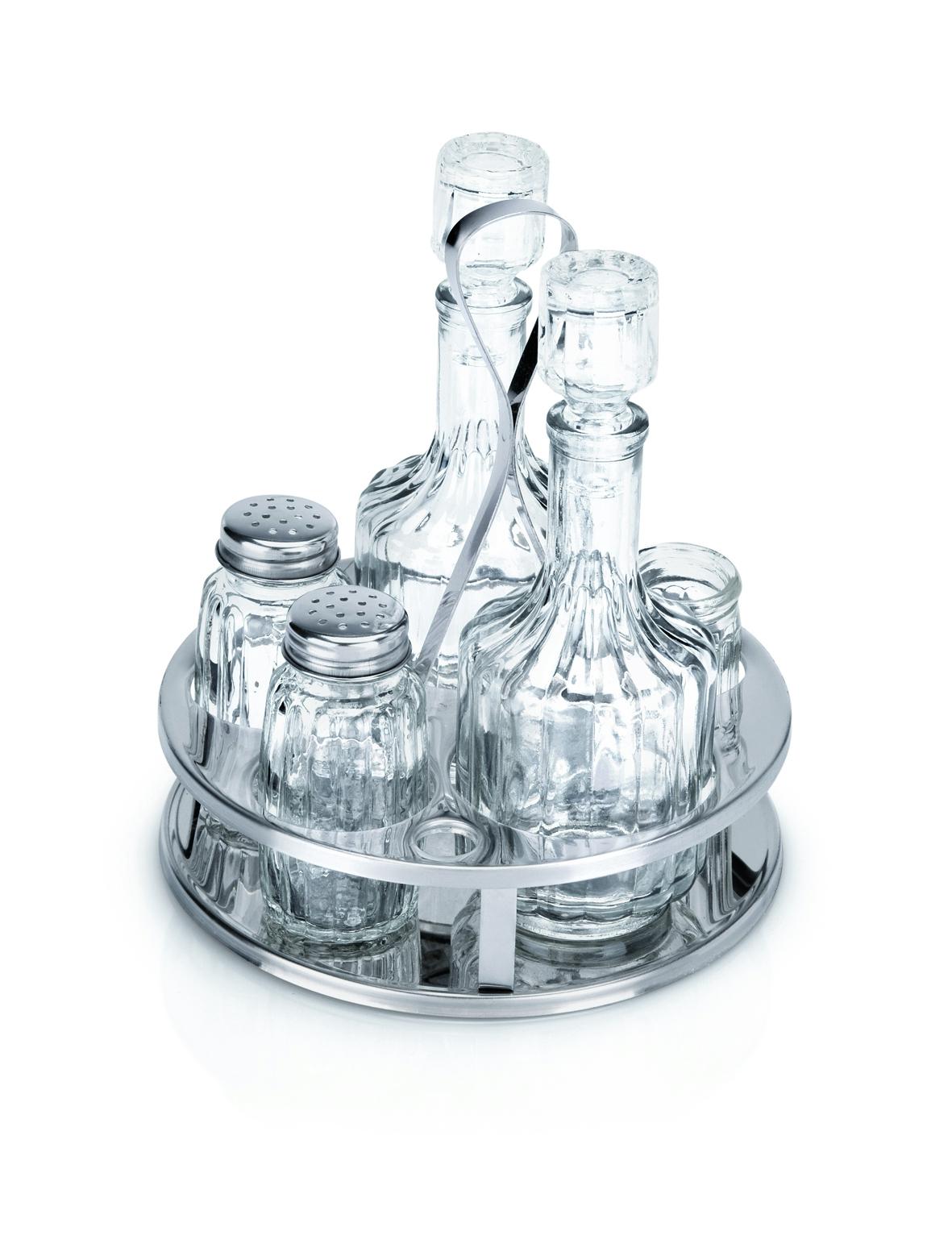 Menage 5-teilig 18//0 mit Senfglas
